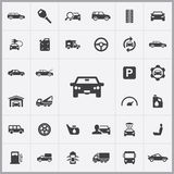 Auto icons universal set Stock Photography