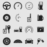 Auto icons. Vector black auto icons set Stock Photography