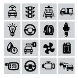 Auto icons Stock Image