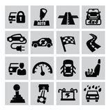 Auto icons Royalty Free Stock Image