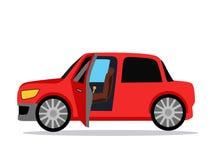 Auto-Ikone flach Stockfotografie