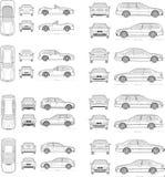 Auto-Ikonensatz lizenzfreie stockfotos