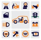 Auto ikony Obraz Stock