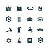 Auto ikony ustawiać Obrazy Royalty Free