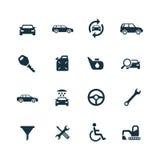 Auto ikony ustawiać Fotografia Stock