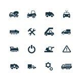 Auto ikony ustawiać Obraz Royalty Free