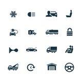 Auto ikony ustawiać Zdjęcie Stock