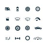 Auto ikony ustawiać Zdjęcia Royalty Free