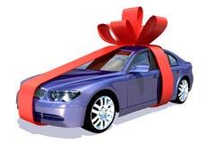 Auto im Geschenk Lizenzfreies Stockfoto
