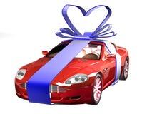 Auto im Geschenk Stockfoto