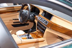 Auto Innen-BMW 7, recht stockbild