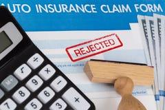 Auto insurance claim form Stock Photos