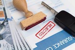 Auto insurance claim form Stock Image