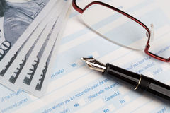 Auto insurance claim form Stock Photo