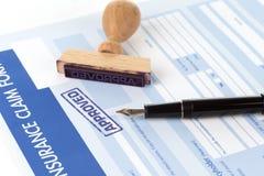 Auto insurance claim form Stock Photography
