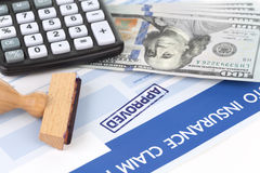 Auto insurance claim form Royalty Free Stock Image