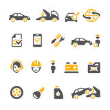 Auto insurance Icons. Vehicle Insurance Icons Set for Web Sites & other design projects Stock Photo