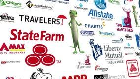 Auto Insurance Logo Loop stock video