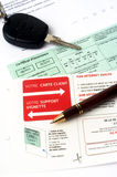 Auto insurance organizes Stock Photography