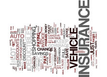 Auto Insurance Word Cloud Concept Royalty Free Stock Images