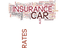 Auto Insurance What Factors Effect Your Rates Word Cloud Concept. Auto Insurance What Factors Effect Your Rates Text Background Word Cloud Concept royalty free illustration