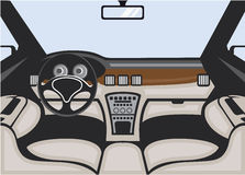 Auto interior vector Stock Photos