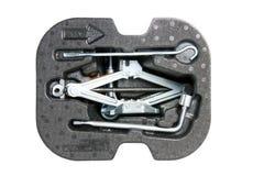 Auto Jack And Basic Tool. Stock Foto