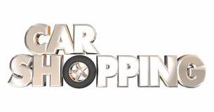 Auto-kaufendes bestes Abkommen-Kauf-Rad-Fahrzeug-Automobil stock abbildung