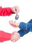 Auto key handing and handshake Royalty Free Stock Image