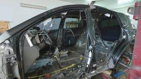 Auto kropp för bil för reparation för mekaniker för kroppreparationsserie lager videofilmer