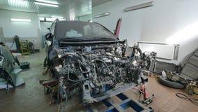 Auto kropp för bil för reparation för mekaniker för kroppreparationsserie arkivfilmer