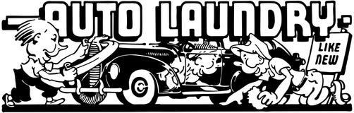 Auto lavanderia 2 ilustração royalty free