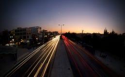 Auto-Leuchte-Spur   lizenzfreie stockfotos