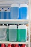Auto liquids. On the shelf Royalty Free Stock Image
