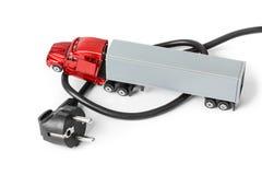 Auto-LKW des elektrischen Steckers und des Spielzeugs stockfotos