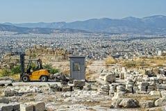 Auto-loader on the Acropolis Stock Photos