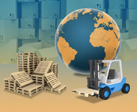 Auto-loader and boxes Royalty Free Stock Image