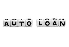 Auto loan with simple text Stock Image