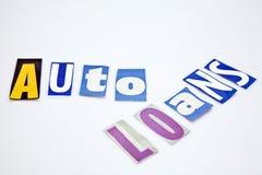 Auto Loans Royalty Free Stock Photos
