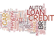 Auto Loans Top Tips For The Best Rate Word Cloud Concept Stock Photo