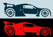 Auto Logo Abstract Lines Vector Vector illustratie royalty-vrije illustratie