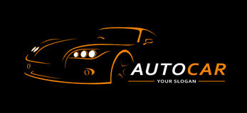 Auto Logo Abstract Lines Vector Vector illustratie Royalty-vrije Stock Afbeeldingen