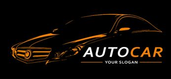 Auto Logo Abstract Lines Vector Vector illustratie Stock Foto's