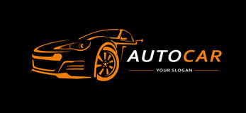 Auto Logo Abstract Lines Vector Vector illustratie Stock Afbeelding