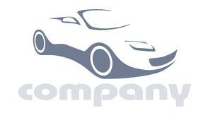 Auto logo. Car silhouette for printing or logo company Royalty Free Stock Image