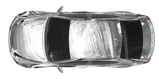 Auto lokalisiert auf weiß- Chrom, abgetönte Glasplatteansicht lizenzfreie abbildung