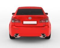 Auto lokalisiert auf weiß- roter Farbe, abgetöntes Glas - hintere Ansicht Stockfoto