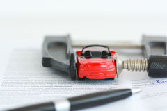 Auto market stress or business pressure Royalty Free Stock Images