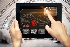Auto mecânico e conceito da inovação Fotos de Stock