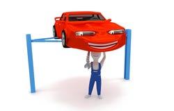 Auto mecânico - reparo do motor Imagens de Stock Royalty Free